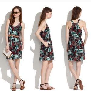 Madewell silk island tropical sun dress 8